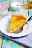 Tart with pumpkin Royalty Free Stock Images