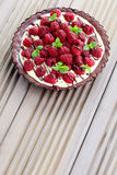 Tart with raspberries Royalty Free Stock Photos