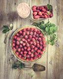 Tart with raspberries Stock Photography