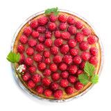 Tart with raspberries Royalty Free Stock Images