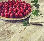 Tart with raspberries Royalty Free Stock Photography