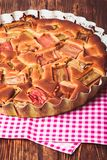 Tart with rhubarb Royalty Free Stock Photography