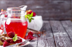 Tart with ripe strawberries Stock Images
