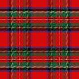 Tartã sem emenda do Scottish do teste padrão do vetor Fotos de Stock Royalty Free