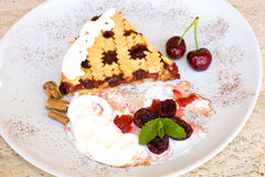 Tart With Sour Cherry Jam Stock Images