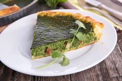 Tart with spinach Stock Image