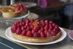 Tart with strawberrie Stock Photo