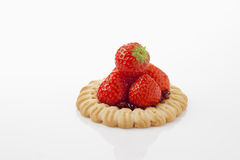 Tart with strawberries Stock Photo