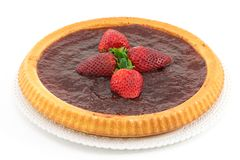 Tart with strawberry jam Stock Photos