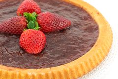 Tart with strawberry jam Royalty Free Stock Photos