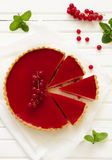Tart with strawberry mousse Royalty Free Stock Photography