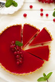 Tart with strawberry mousse Stock Image