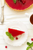 Tart with strawberry mousse Royalty Free Stock Photo