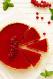 Tart with strawberry mousse Royalty Free Stock Photos