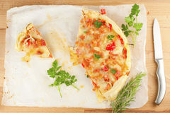 Tart with tomato and cheese Royalty Free Stock Images