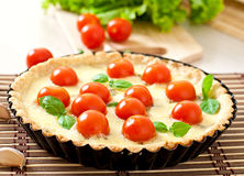 Tart with tomato and cheese Royalty Free Stock Photo