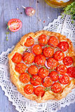 Tart with tomatoes. And herbs Royalty Free Stock Image
