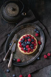 Tart With Fresh Berries Stock Photos