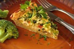 Tarta with broccoli Royalty Free Stock Photos