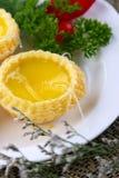 Tarta china del huevo de los pasteles Fotos de archivo libres de regalías