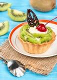 Tarta con el kiwi Fotografía de archivo libre de regalías