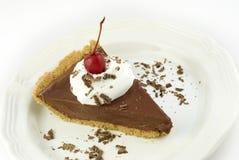 Tarta de crema del chocolate Fotos de archivo libres de regalías