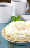 Tarta de crema del coco Imagen de archivo