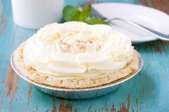 Tarta de crema del coco Imagenes de archivo