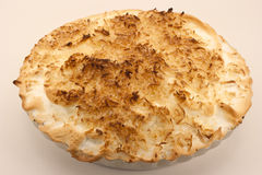Tarta de crema tostada del coco Imágenes de archivo libres de regalías