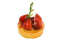 Tarta de la fresa Foto de archivo libre de regalías