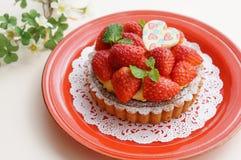 Tarta de la fresa Imagen de archivo libre de regalías