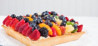 Tarta de la fruta - ascendente cercano Imagenes de archivo