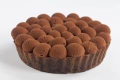 Tarta de la melcocha del chocolate Imagen de archivo libre de regalías