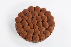 Tarta de la melcocha del chocolate Imagen de archivo