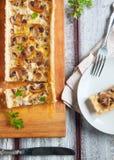 Tarta de la seta y del queso Imagen de archivo