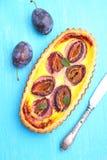 Tarta de los pasteles con los ciruelos Foto de archivo libre de regalías