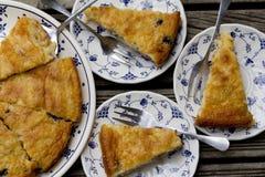 Tarta de manzanas con los arándanos Imagen de archivo libre de regalías