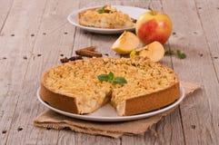 Tarta de manzanas de la migaja foto de archivo libre de regalías
