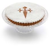 Tarta De Santiago, gâteau espagnol d'amande photos stock