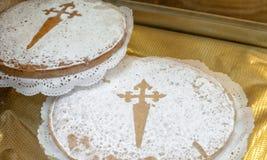 Tarta de Santiago, Galicia. Tarta de Santiago / Galician Almond Cake stock photography