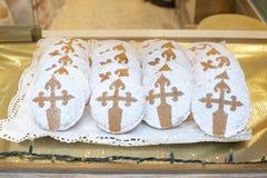 Tarta de Santiago, Galicia. Tarta de Santiago / Galician Almond Cake royalty free stock photos