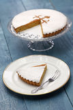 Tarta de santiago, spanish almond cake Stock Photos