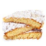 Tarta de Santiago, torta tipica della mandorla dalla Spagna fotografie stock
