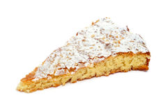 Tarta de Santiago, typical almond pie from Spain. A piece of Tarta de Santiago, typical almond pie from Spain royalty free stock image