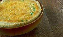 Tarta de seso. Beef brain pie in Colombian cuisine royalty free stock images