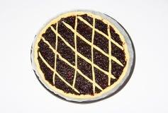 Tarta del atasco de frambuesa, crostata hecho en casa italiano Fotos de archivo libres de regalías