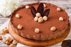 Tarta del chocolate con las avellanas imagen de archivo libre de regalías