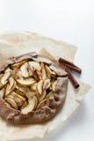 Tarta del galette de la empanada de Apple Fotografía de archivo