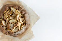Tarta del galette de la empanada de Apple Imagen de archivo libre de regalías