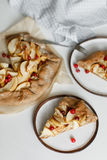 Tarta del galette de la empanada de Apple Foto de archivo libre de regalías